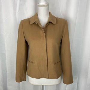 Louben Petite Tan Wool/Cashmere Jacket Size 4